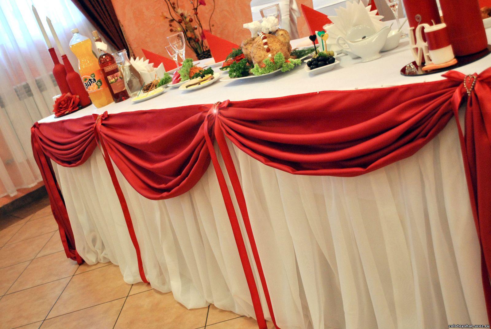 Декор свадебного стола - тканью, цветами и шарами, мастер-класс по 2